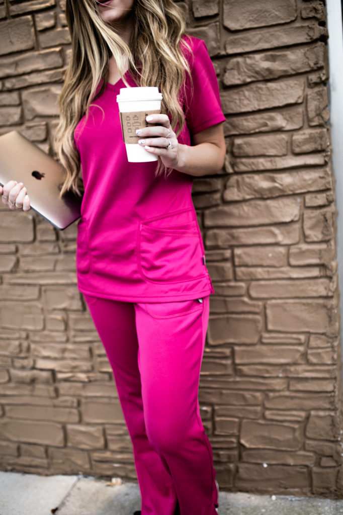 Shannon Jenkins of Upbeat Soles styles cute medical scrubs by Smitten for Landau and talks about how comfortable and stylish they are