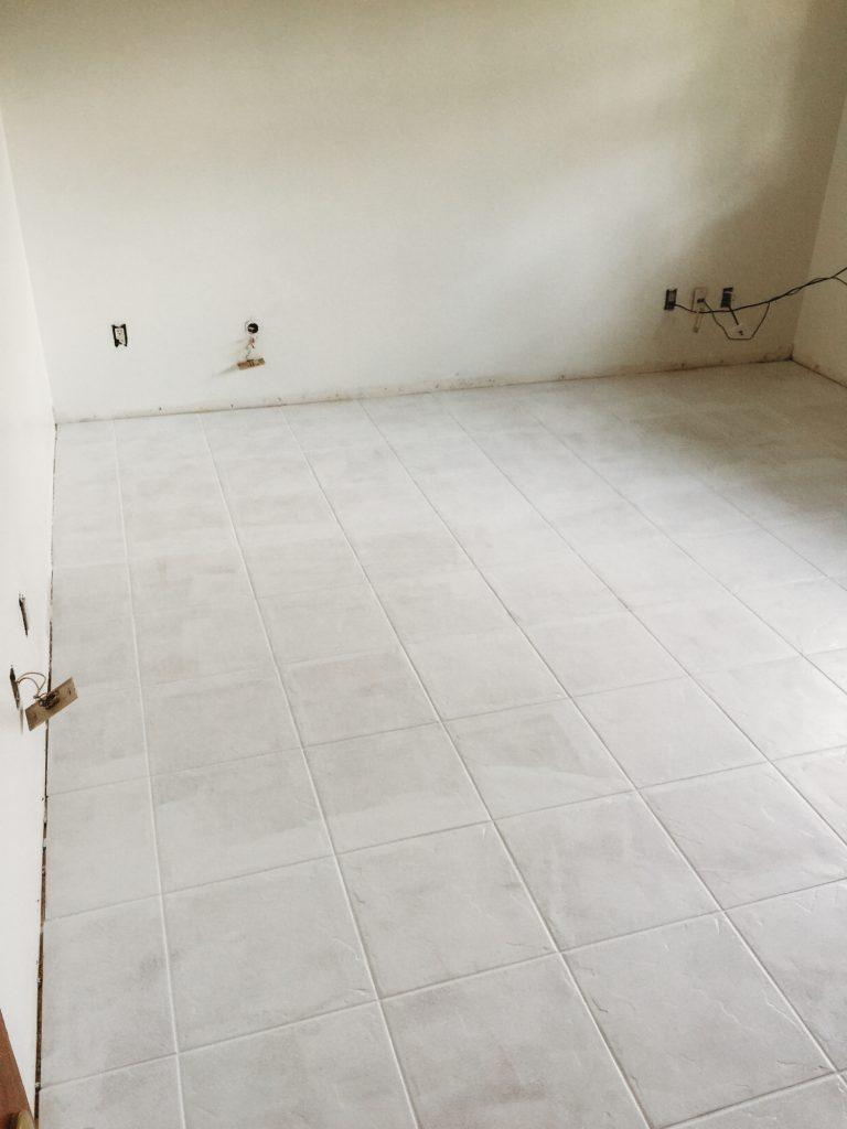How to Paint Tile Floor | Upbeat Soles | Orlando Florida Fashion Blog