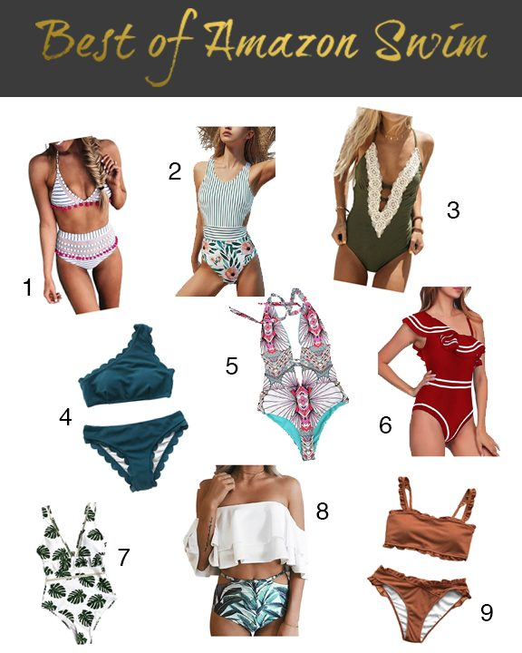 Shannon Jenkins of Upbeat Soles talks about the best Amazon swimsuit and swimwear finds for under $40 with high waisted bikinis and one pieces