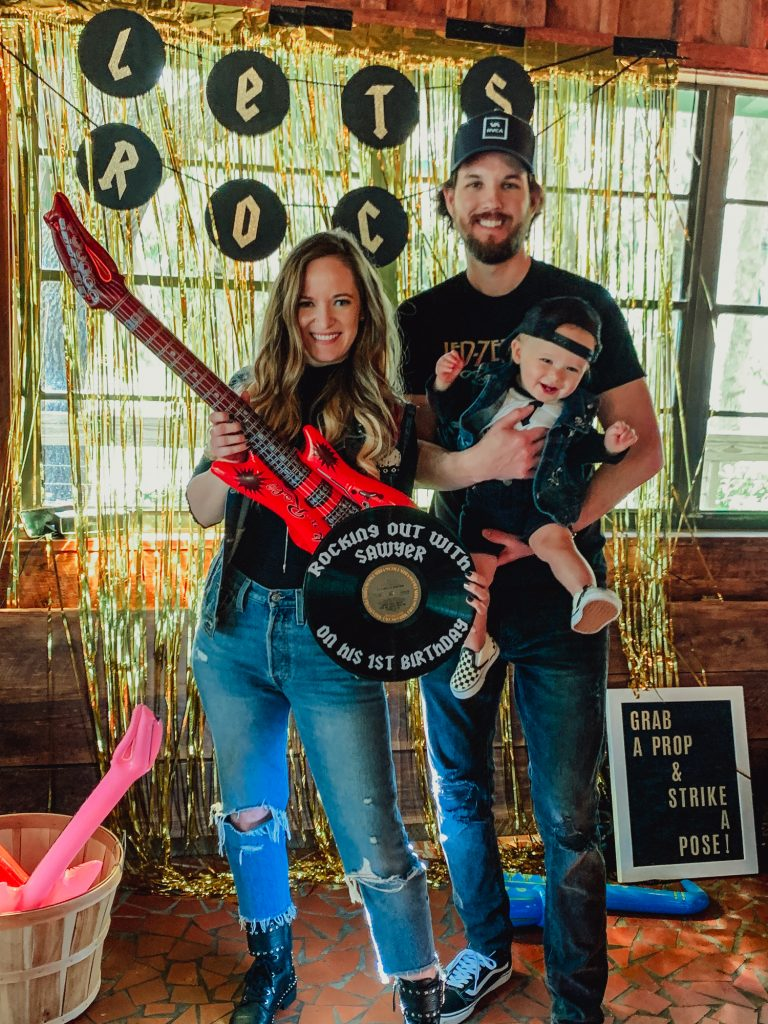 Shannon Jenkins of Upbeat Soles talks about her son's rock and roll first birthday with rock and roll cake and cookies and photobooth