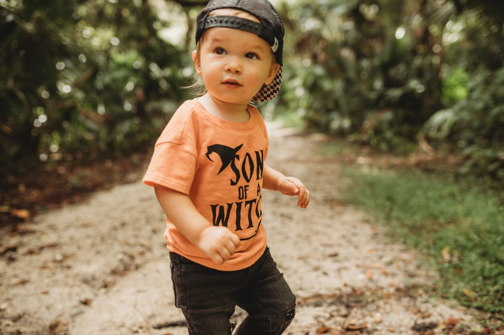 Shannon Jenkins of Upbeat Soles does a DIY last minute Halloween costume with Son of a witch tee shirt, Dr Marten boots, and witch costume